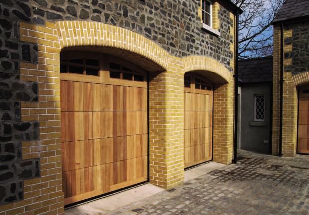 Wooden Timber Garage Door Newark