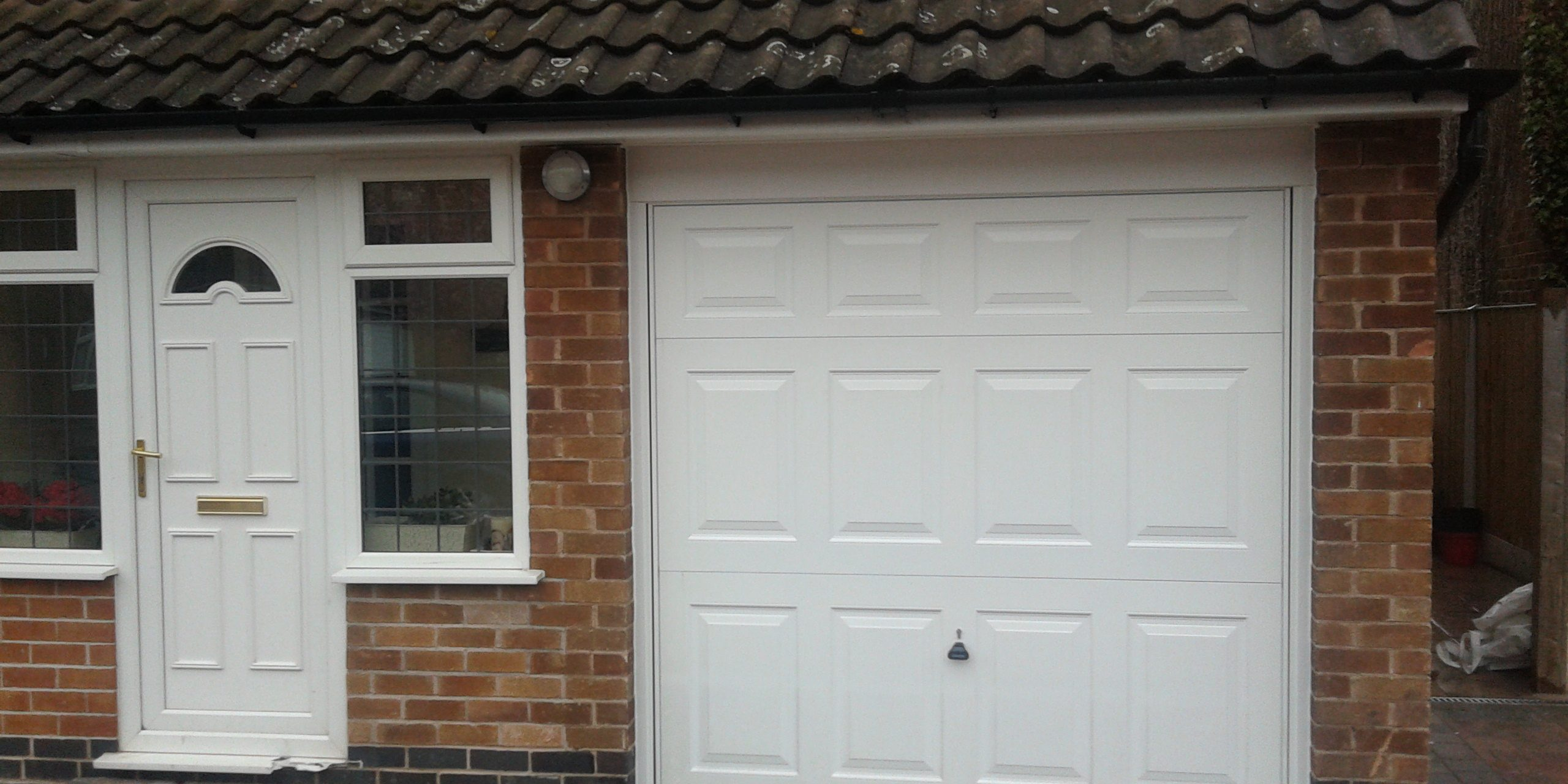 New Garage Door Nottingham & White Canopy Garage Door in Nottingham u2013 Garage Door Company Grantham