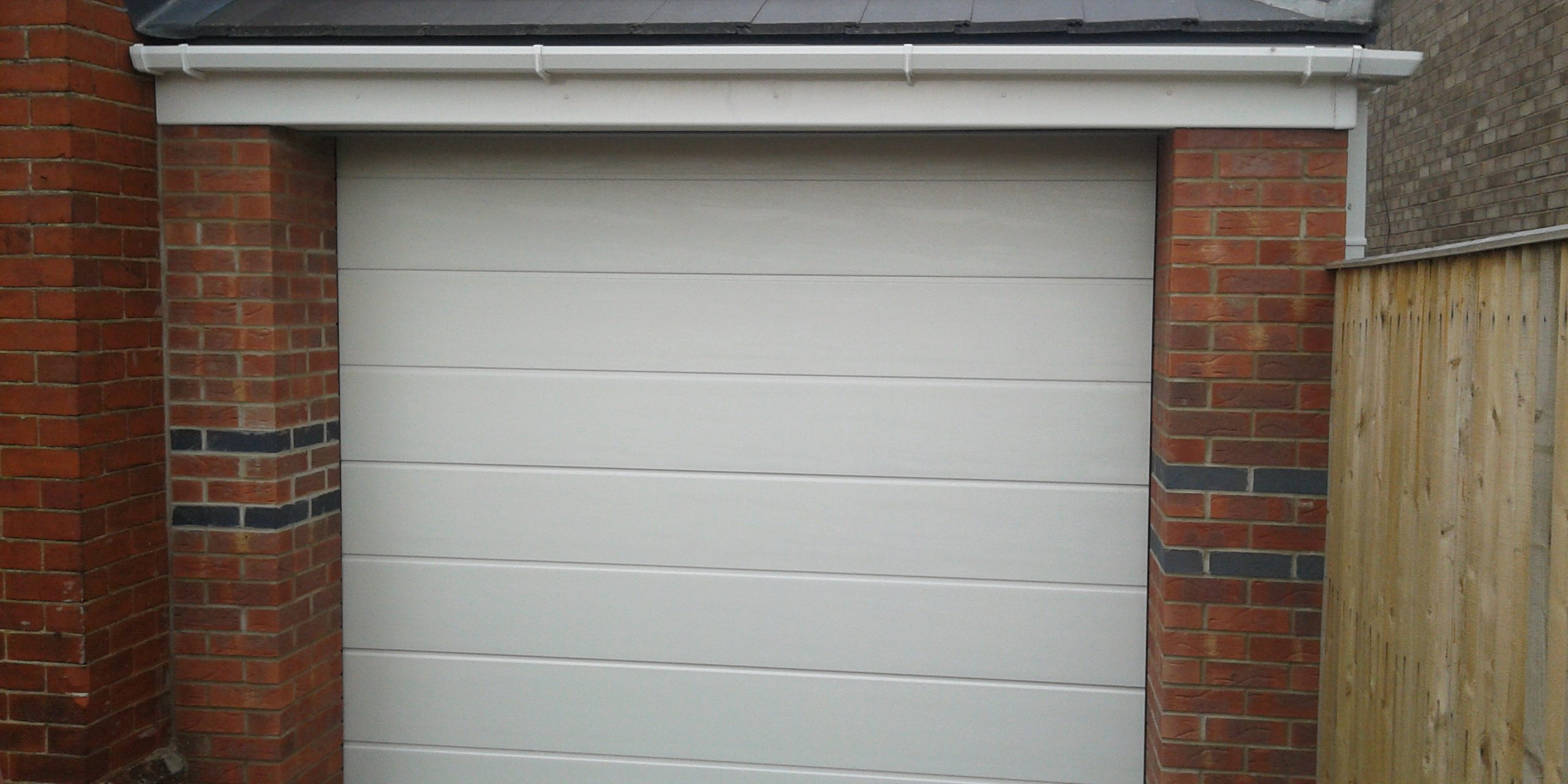 single sectonal automatic garage door sleaford full