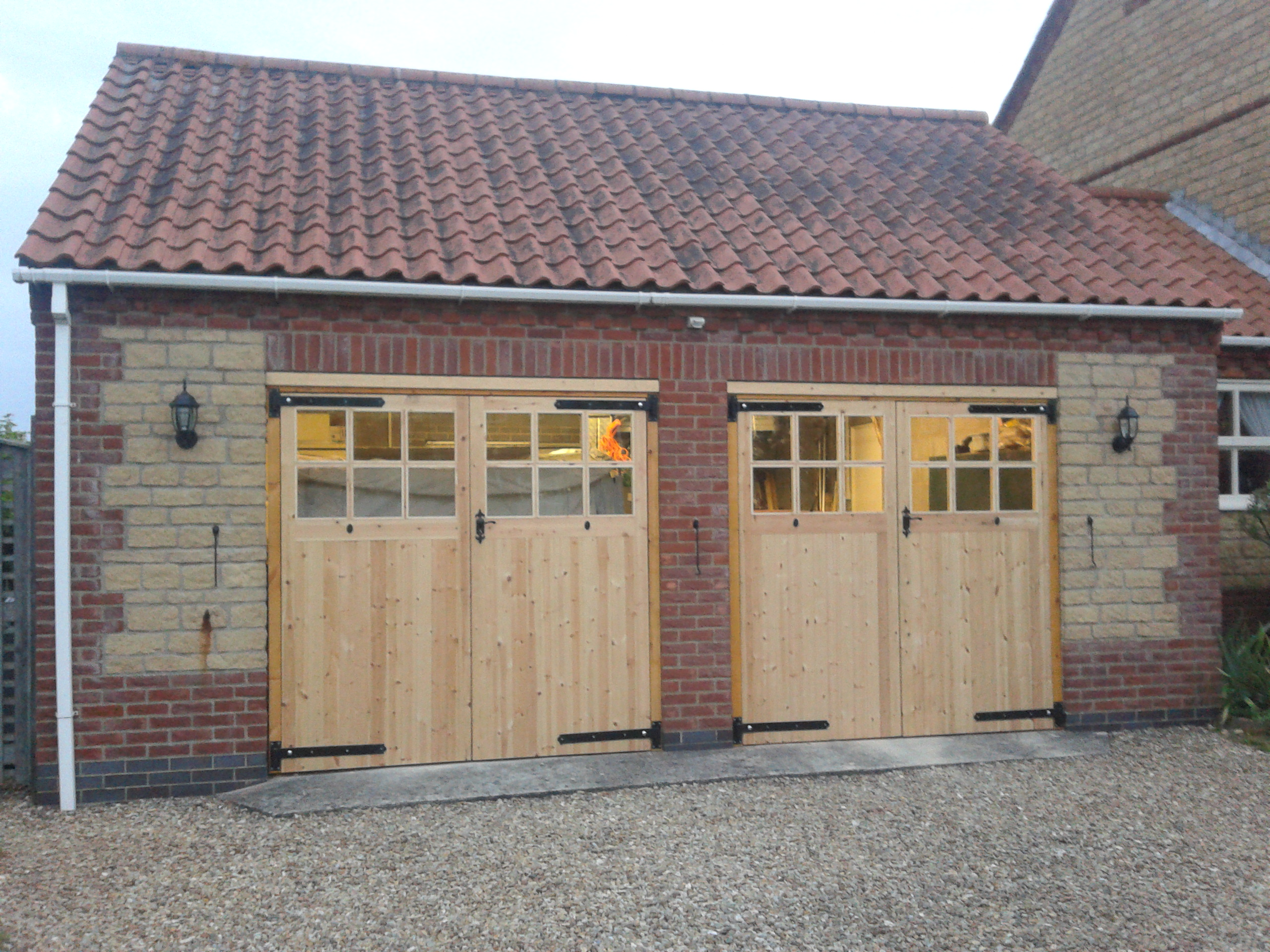 Timber Side Hinged Garage Doors Garage Door Company Grantham