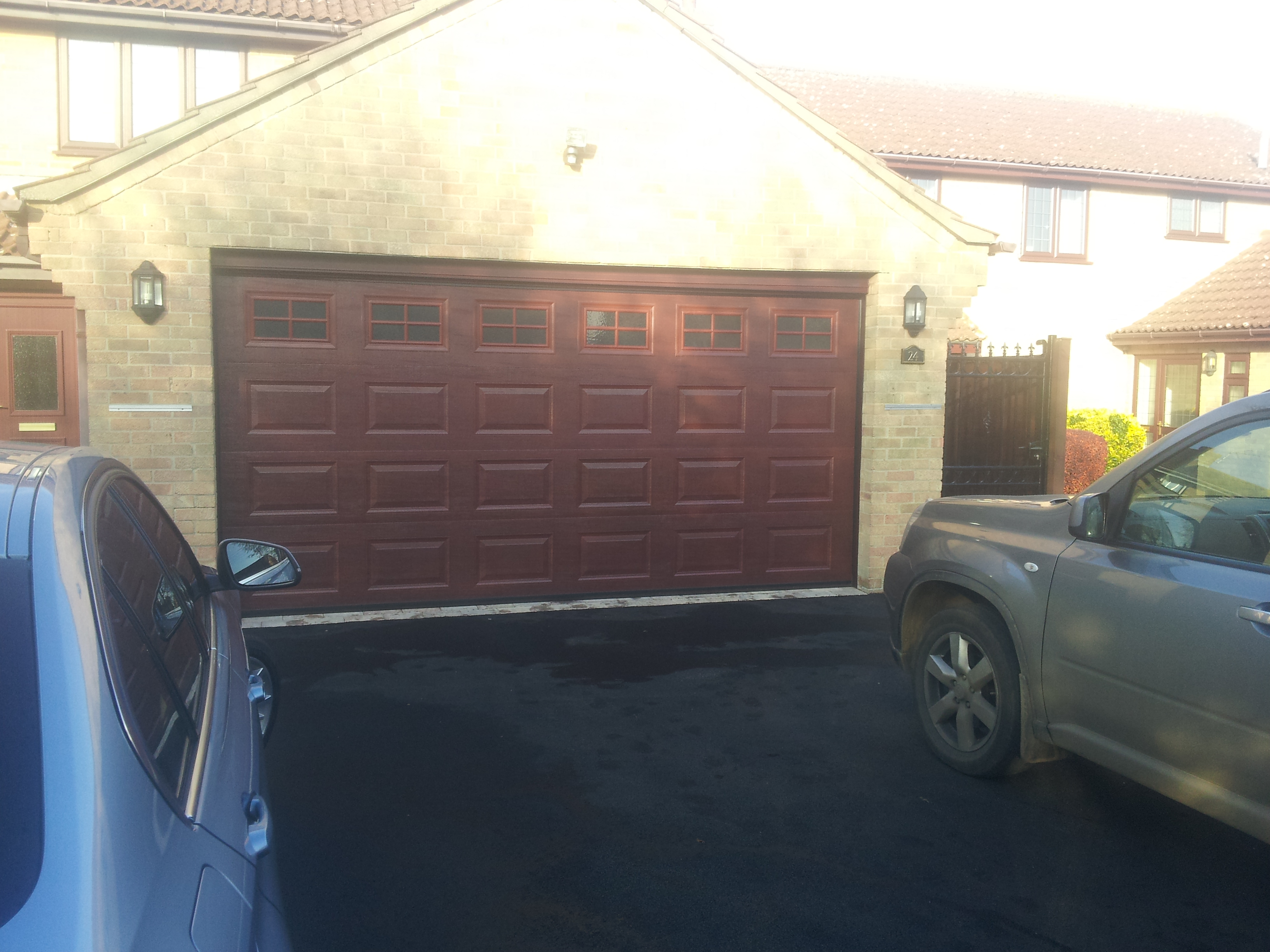 New Garage Door Double Sectional In Grantham Garage