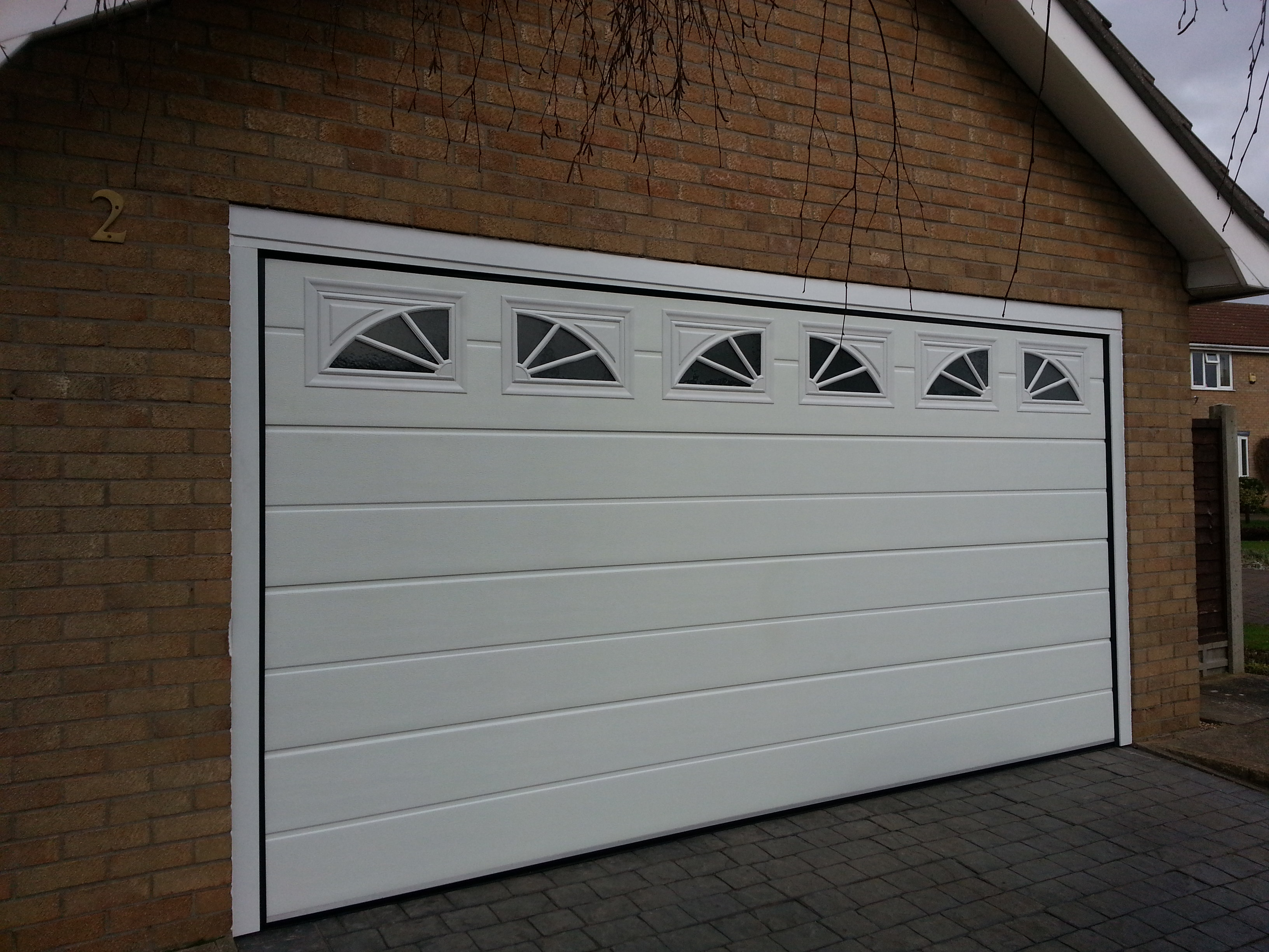 New garage door with windows grantham garage door for New windows doors